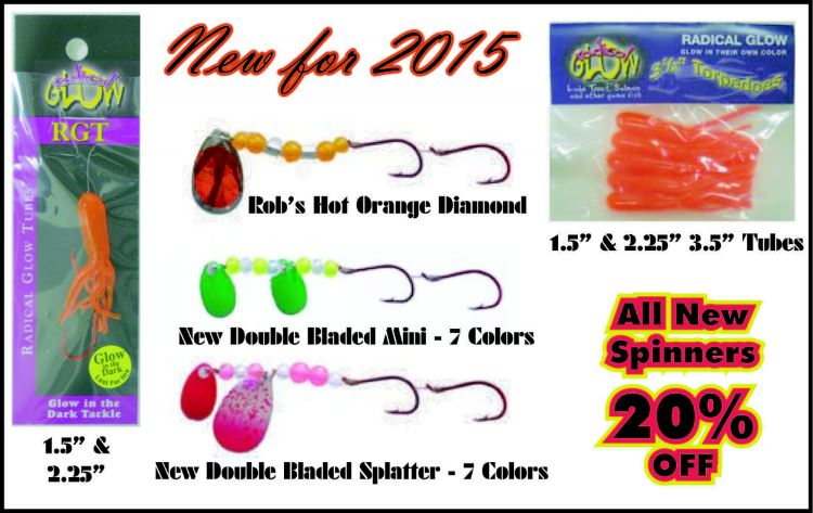 radical glow lures - glows 8 times longer & 10 times brighter!, Reel Combo